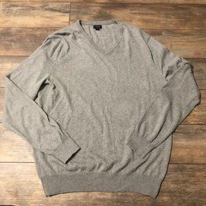 J. Crew Cotton Cashmere V-Neck Sweater